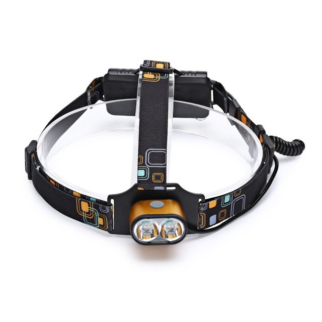 LED Rechargable Focus Headlamp Camping Head Torch