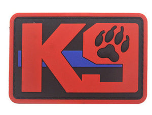 K9 Dog Trainning PVC Patch Armband Badge Military Tactical Morale Decorative Patches Sewing Applique Embellishment