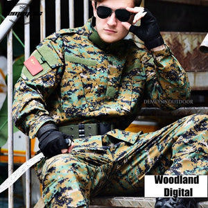 Desert Digital Camouflage Suit Paintball Clothing Sets Army Military Tactical Uniform Combat Airsoft Uniform Jacket + Pants