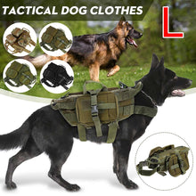Load image into Gallery viewer, Waterproof Military Tactical Dog Clothes Harness Working Dog Vest Nylon Bungee Leash Lead  Training Running For Medium Large Dog