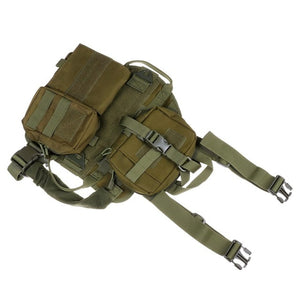 Waterproof Military Tactical Dog Clothes Harness Working Dog Vest Nylon Bungee Leash Lead  Training Running For Medium Large Dog