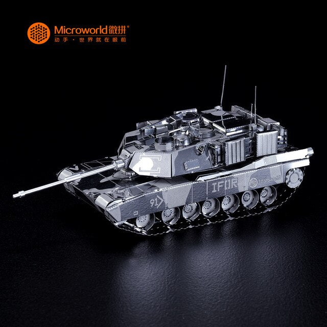 M1 ABRAMS TANK model DIY laser cutting Jigsaw puzzle model 3D Nano metal Puzzle Toys for adult Gift with free shipping