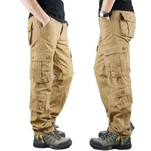 Load image into Gallery viewer, Overalls fashion casual men trousers loose straight work pants outdoor sports pants jeans labor protection Cargo Pants