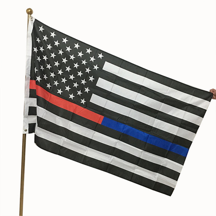 american flag Thin Blue Line Red Line Police Fire respect and honor law enforcement flags and banners 3*5ft