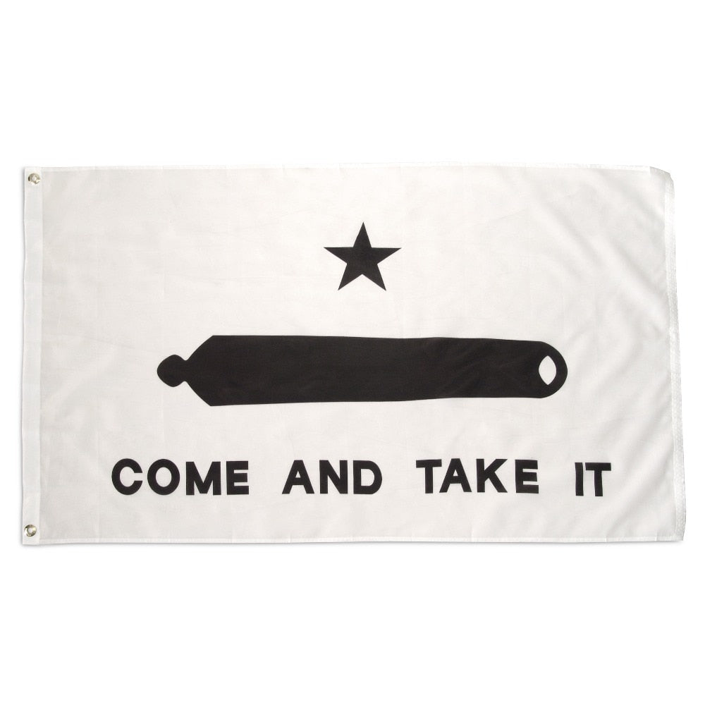 ANLEY Come And Take It Flag Texas Gonzales NRA flags Texas Revolution Military Spartan 3x5 feet banner