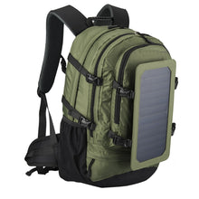 Load image into Gallery viewer, 35L IP67 Solar Backpack Men and Women Polyester Travel Shoulder Bag Cell Phone Charger' Solar Bag Sunpower Laptop Bag