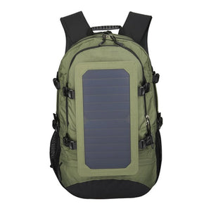 35L IP67 Solar Backpack Men and Women Polyester Travel Shoulder Bag Cell Phone Charger' Solar Bag Sunpower Laptop Bag