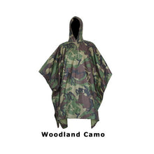 Load image into Gallery viewer, Outdoor camping jungle Hunting 3 in 1 Tactics Camouflage Bionic Military Raincoat Poncho Backpack Rain Cover Tent Mat Awning