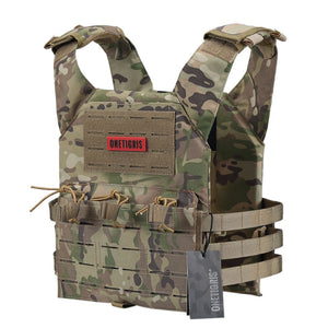 OneTigris Tactical Laser-Cut JPC Vest Light-Weight MOLLE Lazer Special Plate Carrier Hunting Vest for Paintball Airsoft