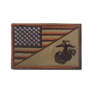 US Marine Corps USMC Morale Patch Rectangular 8*5cm American USA National Flag Patch High Quality Tactical Armband Patch Badge
