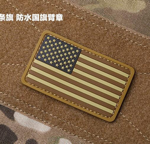 America Flag Patch Rubber US Flag Tactical Patch PVC Morale Armband Army Hook And Loops Army Combat Badge