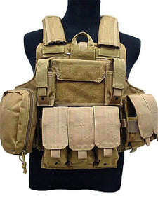 Tactical Vest Molle CIRAS Airsoft Combat Vest W/Magazine Pouch Releasable Armor Plate Carrier Strike Vests Hunting Clothes Gear