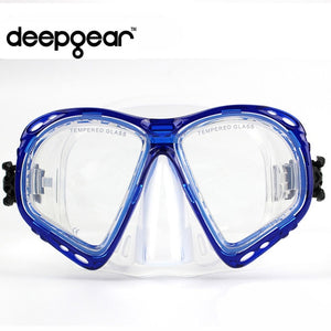 Supper Clear silicone scuba diving mask Top prescription nearsighted optical diving mask Adult snorkel gears diving equipment