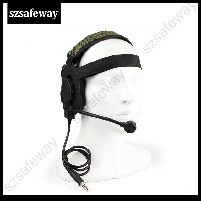 Tactical Headset III Z Tactical Bowman Elite II Mic Radio Boom for Walkie Talkie Helmet Communication