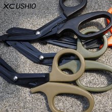 Load image into Gallery viewer, EMT EDC Gear Tactical Rescue Scissor Medical EMT Scissor Bandage Cutter Outdoor Stainless Steel Tactical Gear Paracord Tool