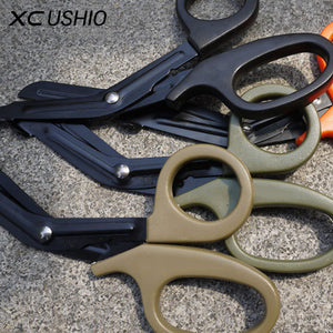 EMT EDC Gear Tactical Rescue Scissor Medical EMT Scissor Bandage Cutter Outdoor Stainless Steel Tactical Gear Paracord Tool