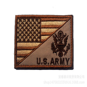 5pcs/lot 8*5cm Fashion military hat badge usa tactical patch emboridry patch for jeans US army morale patches with flag design