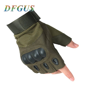 2018 Sale Us Army Men's Tactical Gloves Outdoor Sports Half Finger Military Combat Anti-Slip Carbon Fiber Shell Tactical Gloves