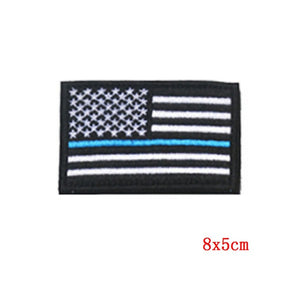 Prajna Morale Tactical Police Patch Military US Army Flag Patch Hook Loop Embroidered Country Flag Patches For Clothes Stripe On