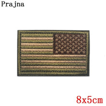 Load image into Gallery viewer, Prajna Morale Tactical Police Patch Military US Army Flag Patch Hook Loop Embroidered Country Flag Patches For Clothes Stripe On