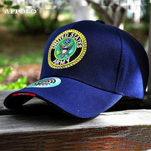 [HAN WILD] Mens Airborne United States LOGO Army Baseball Caps USA Tactical  Cap Man Hats for Men Adjustable Bone Gorras HANWILD