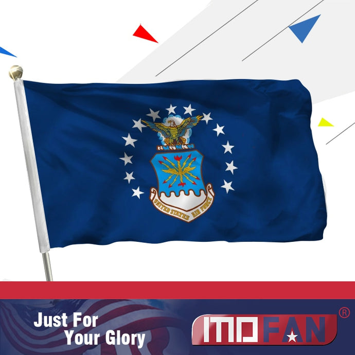 MOFAN US Air Force Flag- Durable and Double Stitched - US Military Flags Polyester with Brass Grommets 3x5 ft Indoor/Outdoor