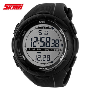 2018 New Skmei Brand Men LED Digital Military Watch, 50M Dive Swim Dress Sports Watches Fashion Outdoor Wristwatches