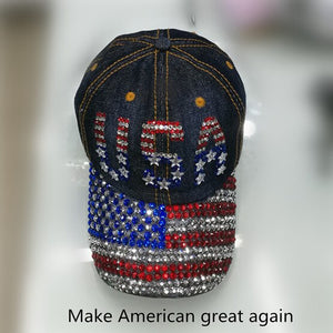 LGFD2017527 women USA  FLAG  Stars and Stripes design  cotton  denim baseball cap