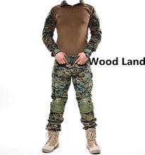 Load image into Gallery viewer, With elbow knee pads camouflage military tactical uniform suits outdoor hunting training camping combat shirt pants sets clothes
