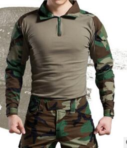 With elbow knee pads camouflage military tactical uniform suits outdoor hunting training camping combat shirt pants sets clothes