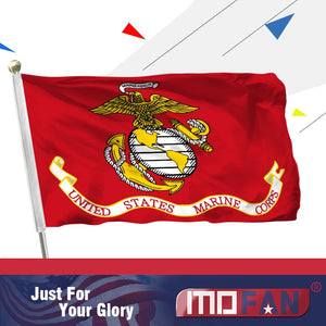 MOFAN US Marines Polyester Flag- US Marine Corps Military Flags with 2 Brass Grommets Indoor/Outdoor Home Decoration 3x5ft