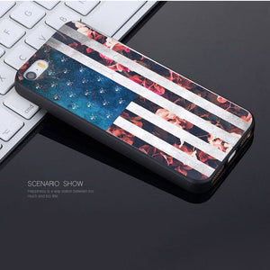 MaiYaCa American flag Novelty Fundas Phone Case Cover for Apple iPhone 8 7 6 6S Plus X 5 5S SE 5C Cover