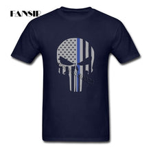 Load image into Gallery viewer, Military Skull Tactical Flag Tee Shirt Amazing Men T Shirts Short Sleeve 100% Cotton O Neck T Shirt For Adult