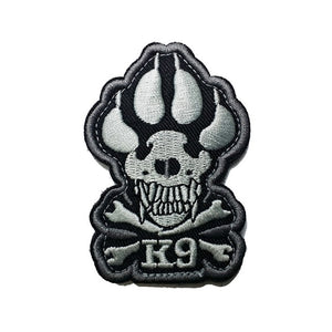 3D Embroidery Patch K9 DOG Tactical Army Morale Patch Emblem Appliques Military Hook & Loop Fastener Embroidered Patches Badges