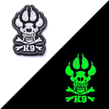 Load image into Gallery viewer, 3D Embroidery Patch K9 DOG Tactical Army Morale Patch Emblem Appliques Military Hook & Loop Fastener Embroidered Patches Badges
