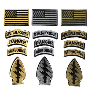 2018 Parches Stickers Us Special Forces Patch Morale Army American Flag Patches Swat Tactical Embroidery Armband Airsoft Badge
