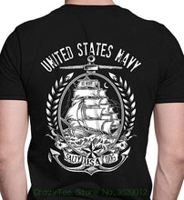 Load image into Gallery viewer, Short Sleeves New Fashion T-shirt Men Clothing Us Navy United States Navy Port & Co. T-shirt