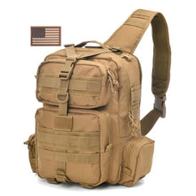 Load image into Gallery viewer, REEBOW TACTICAL Military Sling Pack  Molle Assault Range Shoulder Backpack Bag EDC Bag Day Pack with USA Tactical Flag