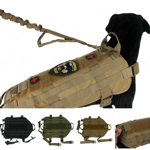CQC 1000D Molle Tactical Dog Vest K9 Military Pet Dog Clothes Harness Airsoft Paintball Hunting Training Vest
