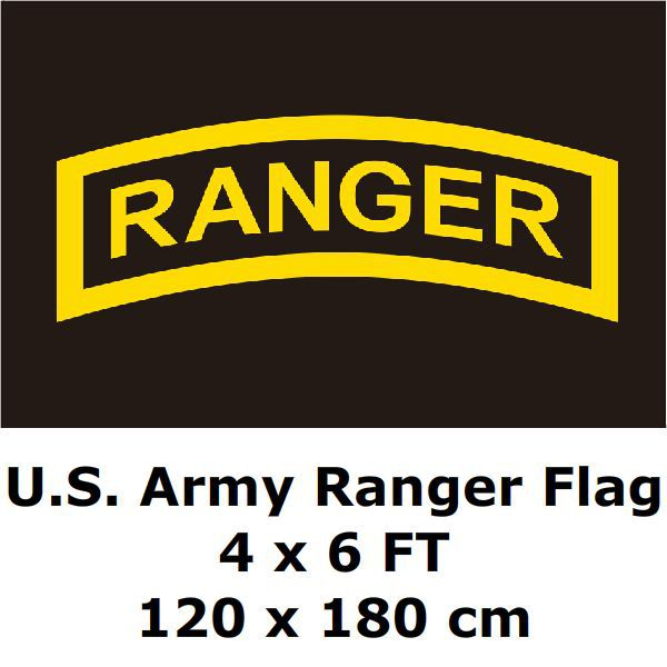 U.S. Army Ranger Flag 4` x 6` FT Polyester Large American United States USA Army Airborne Military Flags and Banners