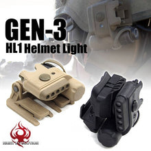 Load image into Gallery viewer, Night Evolution NE05003 Tactical Airsoft Gen3 HL1 Helmet Light Set(White & Red) Hunting Military Paintball Infrared Safety Light