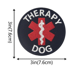 Embird patches Embroidered hook N loop patch backing Psychiatric Service Dog ceo-friendly 3D morale patches hook & loop patch