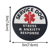 Load image into Gallery viewer, Embird patches Embroidered hook N loop patch backing Psychiatric Service Dog ceo-friendly 3D morale patches hook & loop patch