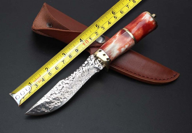 Handmade Forging Hunting Knives,Collection Damascus Camping Knife,Survival Fixed Knife.