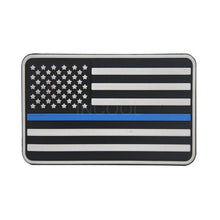 Load image into Gallery viewer, 3D PVC American Flag Patch US Flag United States Thin Blue Line Military Morale Patch Tactical Emblem Badges Hook Rubber Patches