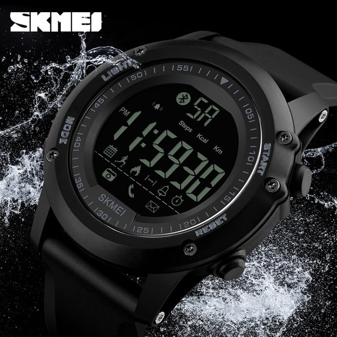 SKMEI Outdoor Sports Smart Watch Men Pedometer Shock Water Proof Digital Wristwatch Calorie Bluetooth Watch Relogio Masculino