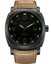 Load image into Gallery viewer, NEDSS Luxury brand watch fashionable tritium watch autmomatic watch genuine leather army Men's Original Navy SEAL Diver Watches