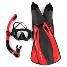 Load image into Gallery viewer, WHALE Professional Snorkels Scuba Diving Mask Goggles Glasses Diving Swimming Fins Flippers Set Diving Equipment
