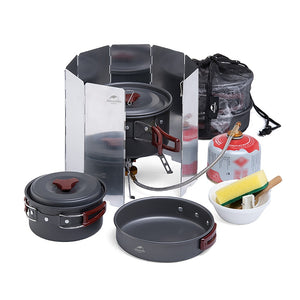 Naturehike Outdoor Camping cookware set camping utensils set tableware set crockery travel Tableware Utensils hiking picnic set