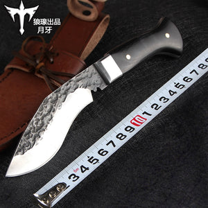 Voltron Outdoor knife hand-forged tactical straight knife wilderness Voltron survival knife hunting knife EDC self-defense